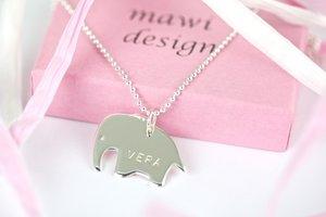Elefant i sterlingsilver