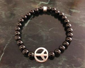Peace - svart agat