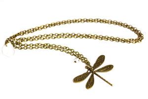 Bronsfärgat halsband med trollslända