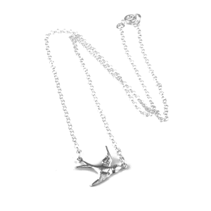 Halsband svala - silver