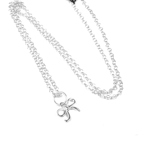 Halsband rosett - silver
