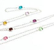 Halsband swarovskikristaller silver