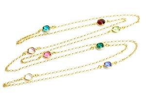 Halsband swarovskikristaller förgylld