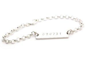 Armband med namnbricka i sterlingsilver